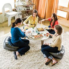 "Party Playlists | Girls Night In Songs | SouthernLiving.com    Cute ideas! Playlists available for download @ your next party ! Every party needs a playlist. If you don't have time to make one check these out. I need a girls' night ""in"" for this one:)"