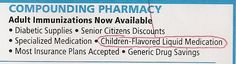 And you thought cherry was bad? Try children-flavored liquid medication! (From an ad in the phone book.)