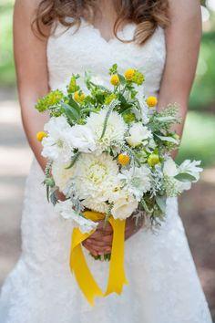 White & Yellow Wedding Bouquet