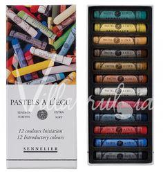 Caja de Pastel   A l'écu 12    (barras enteras) Sennelier