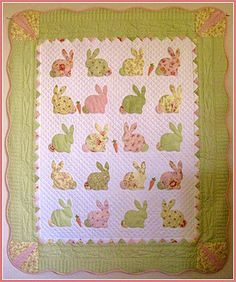 Bunny Quilt, made (fingers firmly crossed here,) for a future grand girl, someday, maybe....