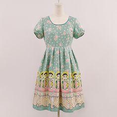 Matryoshka Print Dress OP Emily Temple Cute IN MINT