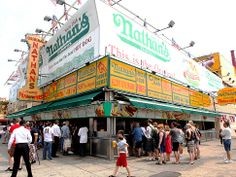 Nathan's Hot Dogs on Coney Island - We will be having Saturday lunch there one of these days.