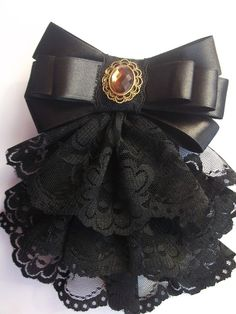 Ruffled Lace Hair Bow -- Just Design Lolita Fashion, Diy Fashion, Womens Fashion, Diy Ribbon, Ribbon Bows, Ribbons, Ribbon Hair, Lolita Mode, Estilo Lolita