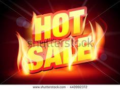 Hot Sale Banner. - stock vector