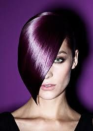 Beautiful violet hair color