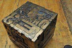 Vintage Typesetter Sculpture Table : 20th Century Vintage Industrial Modern50 Style