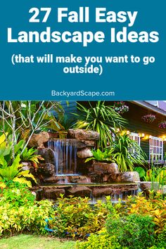 Fall Landscape Ideas: 29 Amazing Ideas For Your Backyard - Backyard Projects, Fun Projects, Fall Landscape, Backyard Landscaping, Landscaping Ideas, Backyard Water Feature, Landscape Background, Beautiful Places, Beautiful Pictures