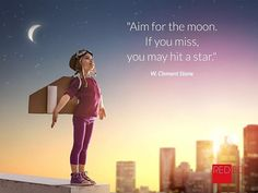 A bit of inspiration for a cold Tuesday morning - Aim for the moon. If you miss you may hit a star W. Clement Stone #inspirationalquotes #aimhigh #aimforthemoon #tuesdaymotivation #success #stafford