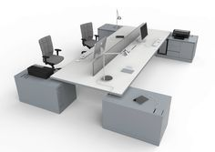 MORE 45 Workstation desk by ESTEL GROUP