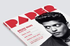 Paper Magazine by Justin Barber, via Behance