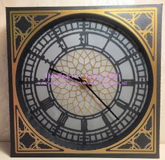 Karins-kortemakeri: Klokke på bestilling Smash Book, Cricut, Clock, Wall, Decor, Creative, Watch, Decoration, Dekoration