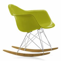 """Vitra Eames RAR Rocking Chair Chair by Charles & Ray Eames. The Eames RAR Plastic Rocking Chair was first presented as part of the famed New York Museum of Modern Art competition, """"Low Cost Furniture Design"""". Eames Rar, Eames Rocker, Eames Rocking Chair, Vitra Chair, Charles Eames, Vitra Furniture, Furniture Design, Vitra Design, Chair Design"""
