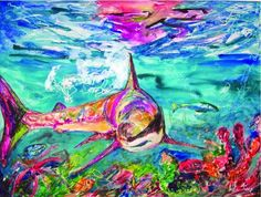 Colorful shark painting.. so great!
