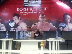 "With My Master Legend of Muay Thai Kru ""Papa'"" Senanan Yodtong ,Thailand 2010"