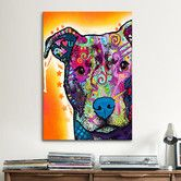 Found it at Wayfair - 'Heart U Pit Bull' by Dean Russo Graphic Art on Canvas