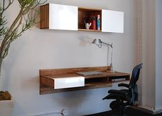 With no legs necessary, the @MASHstudios LAX series wall mounted desk is innovative and modern design at its finest! http://blog.fabricseen.com/productdesigner-spotlight-mash-studios/