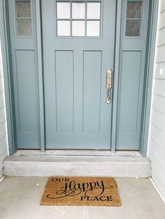 This Craftman Door Color is Aegean Teal by Sherwin Williams. Blue Do. This Craftman Door Color is Aegean Teal by Sherwin Williams. Blue Do. Teal Front Doors, Teal Door, Front Door Paint Colors, Exterior Paint Colors For House, Painted Front Doors, Paint Colors For Home, Blue Doors, Paint Colours, Front Door Painting