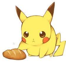 Pikachu looks so cute touching a bread - Pokemon ~ DarksideAnime Pokemon Foto, O Pokemon, Fanart Pokemon, Pikachu Pikachu, Images Kawaii, Pokemon Mignon, Pokemon Pictures, Digimon, Cute Drawings