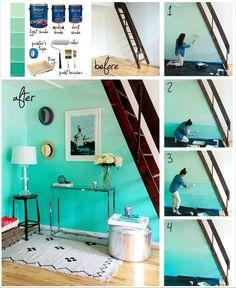 Pintura de parede em degradê - Tutorial