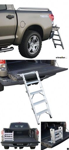 This handy tailgate ladder is designed to get you into your truck bed easily and safely! Its convenient and compact design allows you to maximize available space when not in use. Build A Murphy Bed, Best Murphy Bed, Murphy Bed Plans, Ford Ranger, Homemade Go Kart, Homemade Tools, Fold Up Beds, Hideaway Bed, Truck Tent