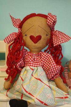 Primitive Raggedy Ann Doll  #anniescupboards