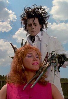 Edward Sccisorhands   Dir. - Tim Burton (1990)   Johnny Depp, Kathy Baker