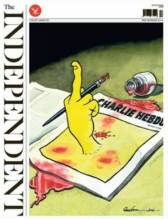 The Independent, January 8th 2015 #JeSuisCharlie