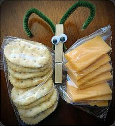 Love this idea - otherwise the cheese makes the crackers go soft.  So cute!!