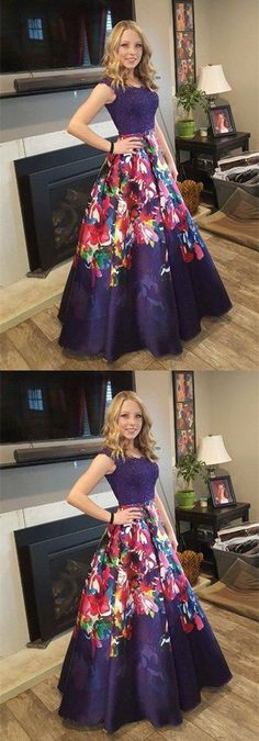 A-Line Off-the-Shoulder Dark Grape Floral Satin Prom Dress with Appliues M0639 #promdresses #longpromdresses #2018promdresses #fashionpromdresses #charmingpromdresses #2018newstyles #fashions #styles #teens #teensprom