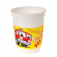 Fire Truck Themed Plastic Cup
