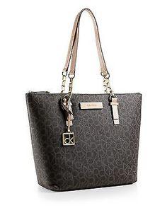 7b2df6ca849 calvin klein womens jordan logo zip top tote bag Calvin Klein Handbags, Calvin  Klein Tote