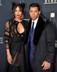 Recording Artist Ciara and NFL Player Russell Wilson attends the NFL Honors at University of Minnesota on February 2018 in Minneapolis, Minnesota. Famous Celebrity Couples, Famous Couples, Celebrity Look, Celebrity Pictures, Ciara Wilson, Ciara And Russell Wilson, Black Celebrities, Celebs, Ciara Style