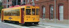 Streetcar in Ybor City Tampa FL