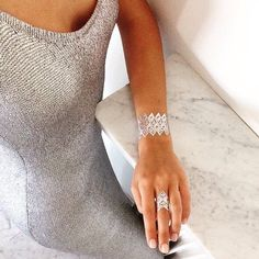 #ByWhoTattoo #Silver #SkinJewelry #SkinJewerlyTattoo #Paris - www.bywhotattoo.com