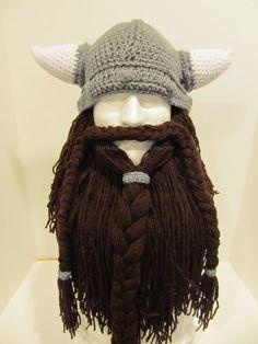 Viking Hat with Beard Ski Mask