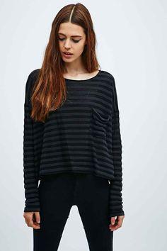 BDG Slouchy Stripe Top in Black €35