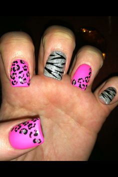 My animal print nails
