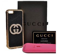 New Arrival Real Gucci iPhone 6 Cases - iPhone 6 Plus Cases - Case Black - Free Shipping - Chanel & Louis Vuitton Authorized Store