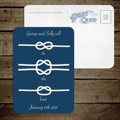 Great for a nautical wedding!