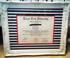 Sometimes you just have to make your own diploma frame...❤️