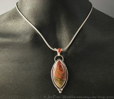 Picasso Jasper and carnelian necklace  statement necklace  by prox, $160.00