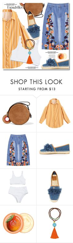 """""""Espadrilles"""" by paculi ❤ liked on Polyvore featuring Carven, Tory Burch, The Body Shop and espadrilles"""