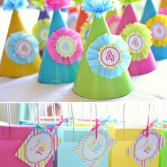 Party hats and goody bags