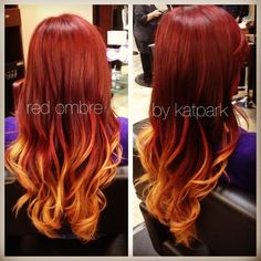 Red ombre...I think this needs to happen