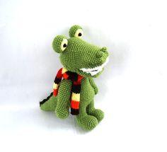 stuffed crocodile crocheted alligator amigurumi by crochAndi