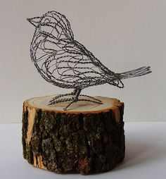 † Make a wire bird - these are SO CUTE - many examples at flickr http://flickrhivemind.net/Tags/wirebird/Interesting - quick video of process linked - 3-D and a few flat sculptures - LOVE this! Add to wreaths, handmade nests, stand alone, above a picture frame, I could put them everywhere! #WireCrafts #Bird