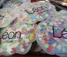 Faire-part garçon : une pochette de confettis