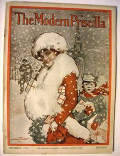 1910 vintage Christmas Modern Priscilla Magazine 12 1910