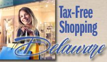 Delaware has tax free shopping!!!!!!!